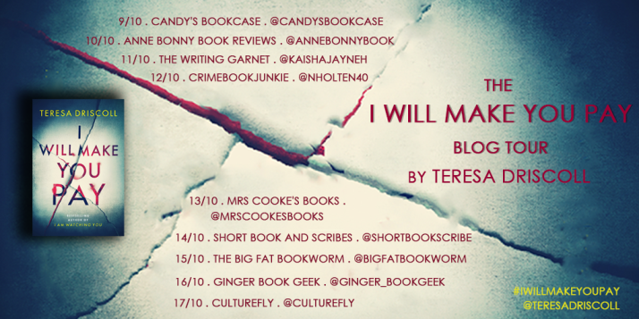 I Will Make You Pay Blog Tour Banner